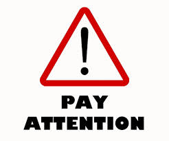 Spiritual Blog - Pay Attention