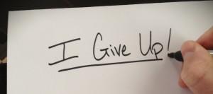 Spiritual Blog - Give Up