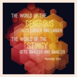 Spiritual Blog - Generosity