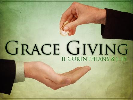 Spiritual Blog - Grace Giving