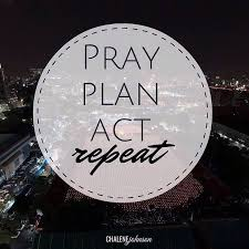 Spiritual Blog - Pray and Plan