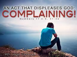 Spiritual Blog - Complaining
