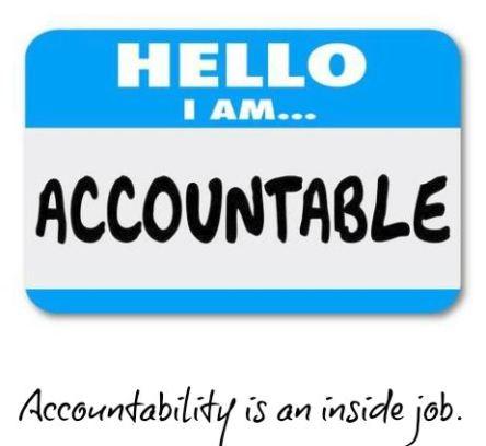 Spiritual Blog - Accountability