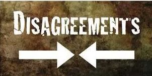 Spiritual Blog - Disagreement