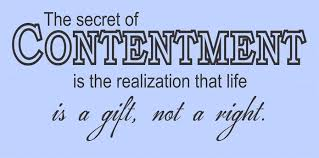 Spiritual Blog - Contentment
