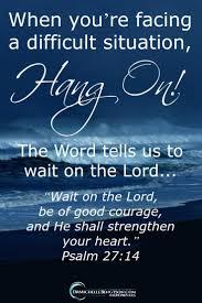 Spiritual Blog - Hang On
